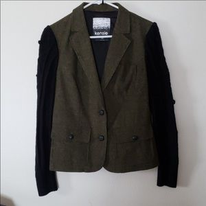 Kenzie black & green blazer